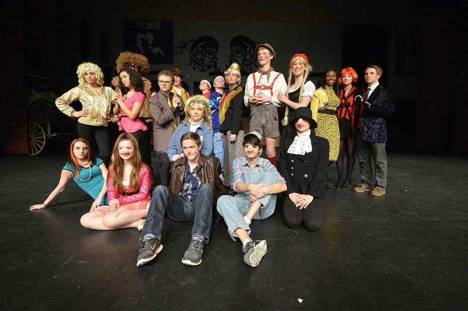 "The cast of Wilton High School's Senior Show, ""Law and Order: Fairy Tale Unit."""