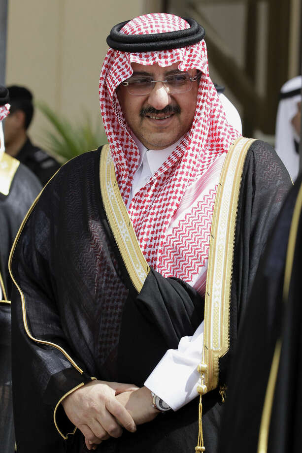 In this Monday, May 14, 2012 photo, Saudi Arabia's Interior Minister Prince Mohammed bin Nayef waits for Gulf Arab leaders ahead of the opening of Gulf Cooperation Council, also known as GCC summit, in Riyadh, Saudi Arabia. Its new king, Salman bin Abdul-Aziz Al Saud, moved swiftly Friday, Jan. 23, 2015, to name Nayef as deputy crown prince, making him the second-in-line to the throne, as he promised to continue the policies of his predecessors in a nationally televised speech. (AP Photo/Hassan Ammar)