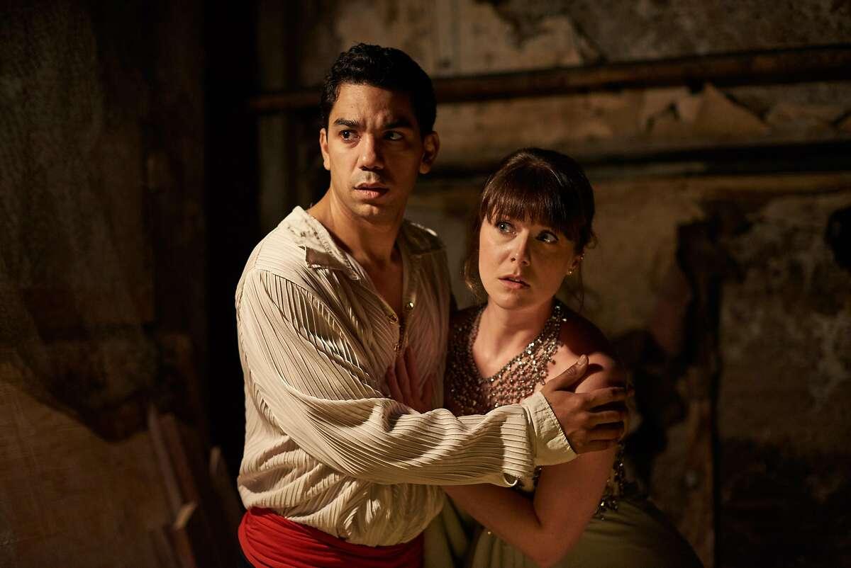 Romantic leads Prince (Edwin Ortiz) and Odette (KC Gleason).