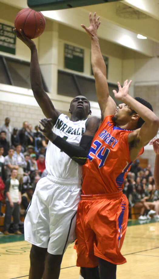 Hour photo/John Nash - The Norwalk Bears hosted the Danbury Hatters on Friday night at Scarso Gym in Norwalk.