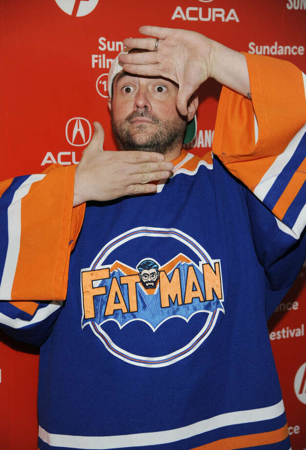"Kevin Smith, a cast member in the documentary film ""Misery Loves Comedy,"" poses at the premiere of the film at the Egyptian Theatre during the 2015 Sundance Film Festival on Friday, Jan. 23, 2015, in Park City, Utah. (Photo by Chris Pizzello/Invision/AP)"