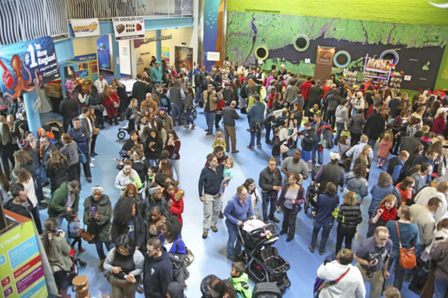 A great turn out during the Chocolate Expo at the Maritime Aquarium in Norwalk Sunday morning.Hour Photo / Danielle Calloway