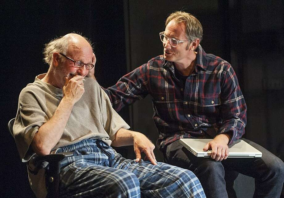 Jack (John Patrick Moore, right) teases his longtime partner Wally (Charles Dean) and unexpectedly rediscovers a spark. Photo: David Allen, AlterTheater