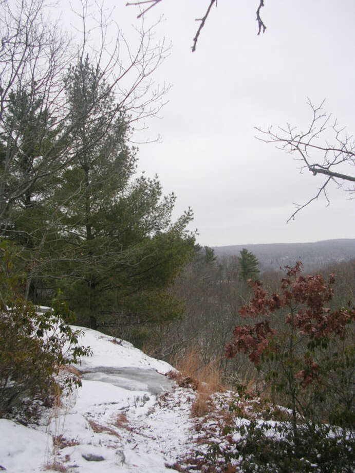 Photo by Rob McWilliams Great Ledge in Devil's Den in winter.