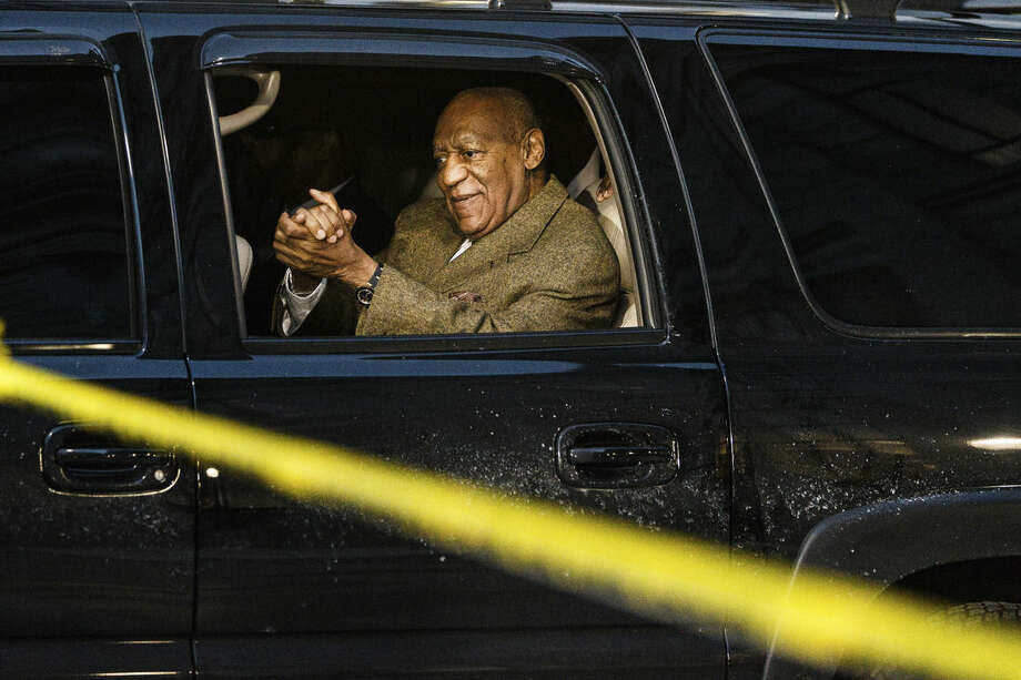 Bill Cosby leaves after a court appearance Tuesday, Feb. 2, 2016, in Norristown, Pa. Cosby was arrested and charged with drugging and sexually assaulting a woman at his home in January 2004. (James Robinson/PennLive.com via AP) MANDATORY CREDIT