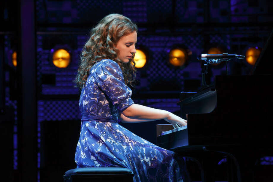 AP Photo/The O+M Co., Joan MarcusThis image released by the The O+M Co. shows, Jessie Mueller as Carole King in Beautiful - The Carole King Musical on Broadway at the Stephen Sondheim Theater.