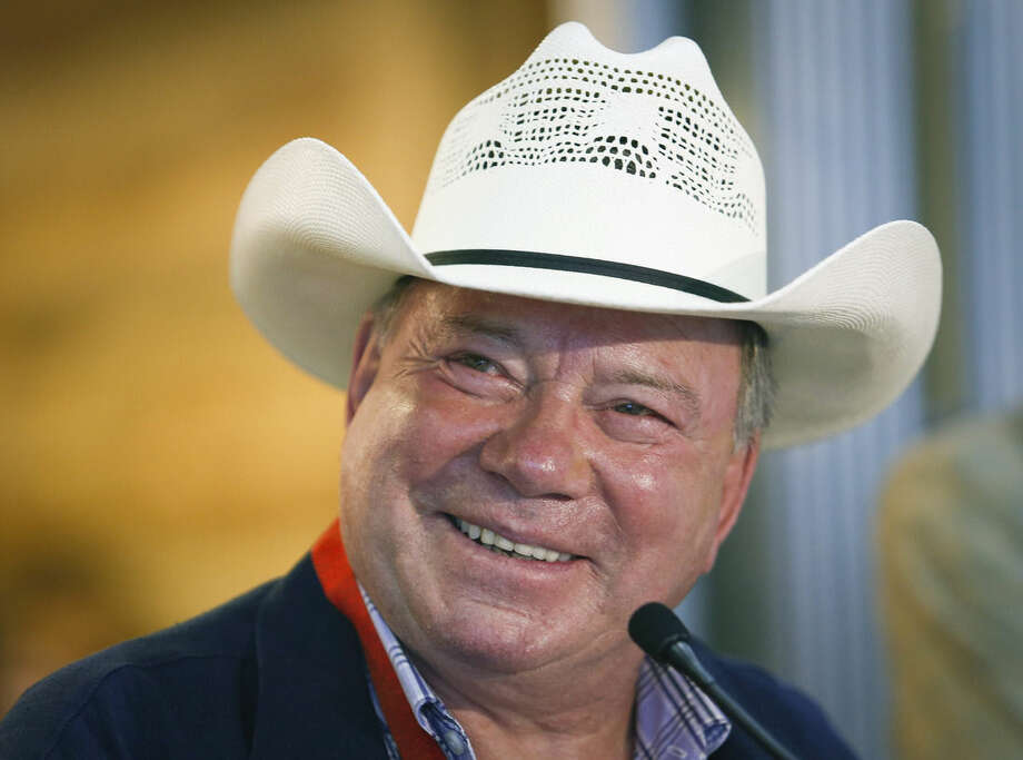 AP Photo/The Canadian Press, Jeff McIntosh, FileIn a Thursday, July 3, 2014 file photo, Calgary Stampede Parade Marshal William Shatner speaks to the media about the upcoming event at a news conference in Calgary, Alberta.