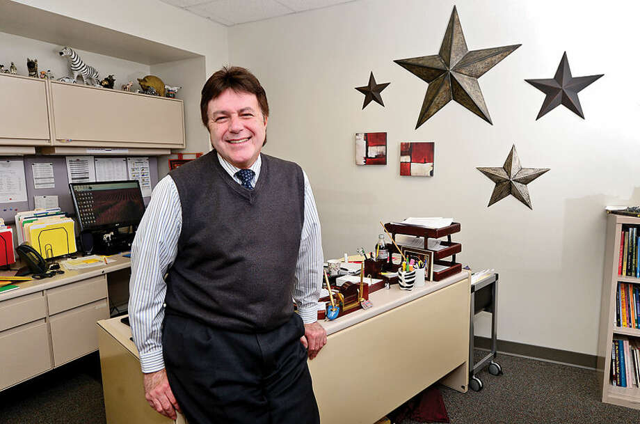 Hour photo / Erik Trautmann Assistant Superintendent of Norwalk Public Schools, Tony Daddona is resigning at the end of the school year, after 37 years serving the district.