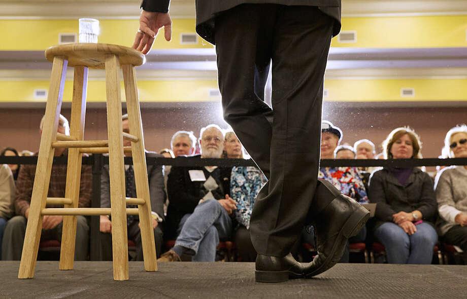 Republican presidential candidate, Sen. Marco Rubio, R-Fla. listens to a question during a town hall meeting in Myrtle Beach, S.C., Thursday Feb. 11, 2016. (AP Photo/Jacquelyn Martin)