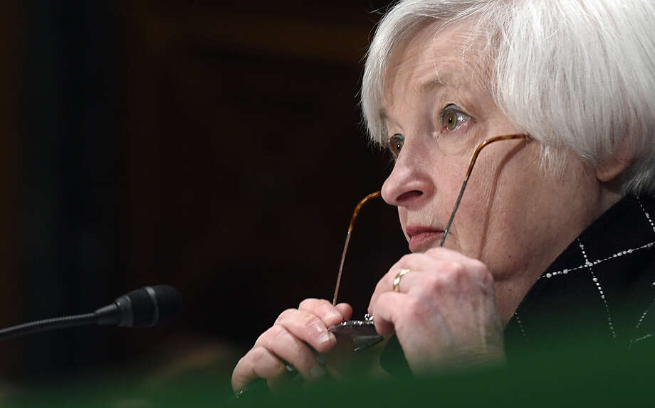 Federal Reserve Board Chair Janet Yellen testifies on Capitol Hill in Washington, Thursday, Feb. 11, 2016, before the Senate Banking Committee hearing on: 'The Semiannual Monetary Policy Report to the Congress.' (AP Photo/Susan Walsh)