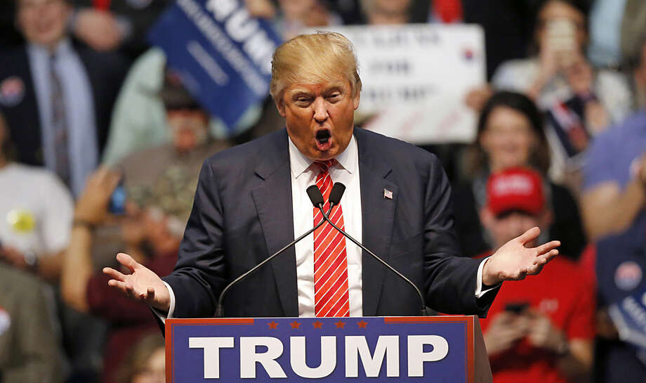 Republican presidential candidate Donald Trump speaks at a campaign rally in Baton Rouge, La., Thursday, Feb. 11, 2016. (AP Photo/Gerald Herbert)