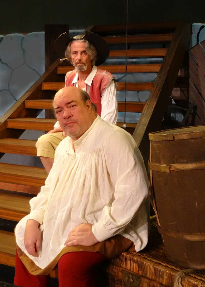 """The dreamer, Don Quixote, supported by his faithful friend Sancho, are seen here in Curtain Call's production of """"Man of La Mancha,"""" playing Feb. 6-28 in The Kweskin Theatre, Stamford."""