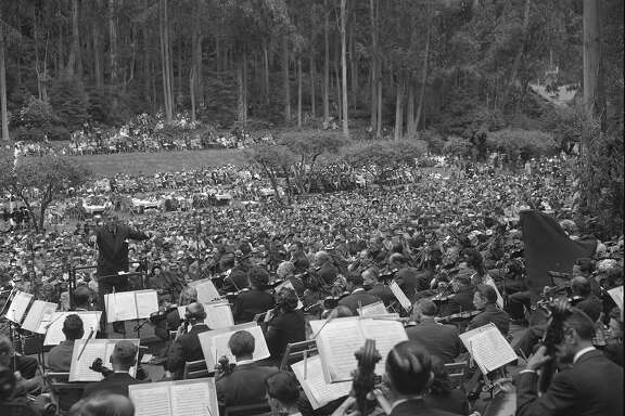 A free concert at Sigmund Stern Grove June, 1948