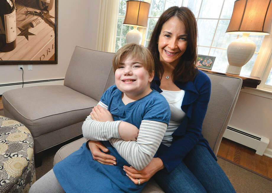 Jennifer Iannuzzi and her 10-year-old daughter Sydney who suffers with Smith Magenis Syndrome