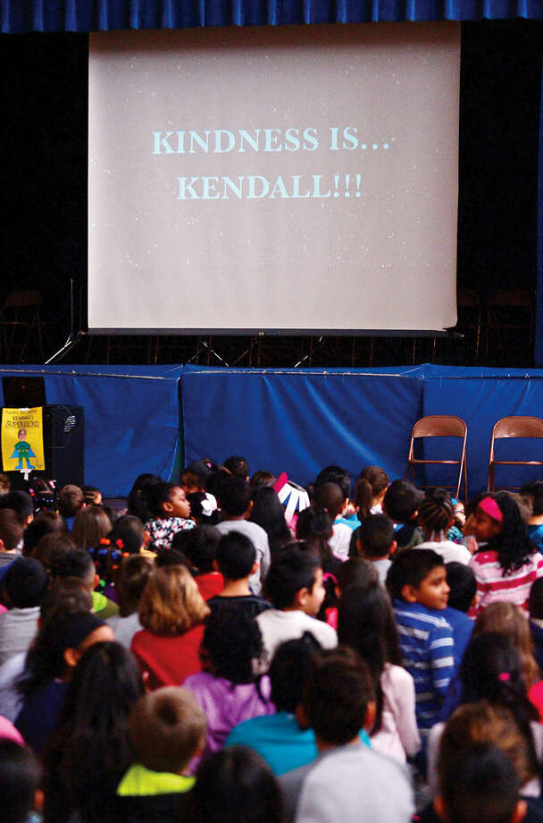 Hour photo / Erik Trautmann The Great Kindness Challenge assembly Tuesday at Kendall Elementary School that culminated a week of events that are part of Kendall's anti-bullying and positive citizenship work.