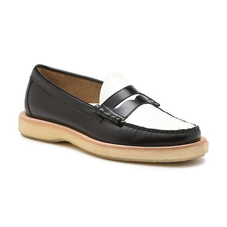 Summer was made for loafers, and they don�t come any more prep than Bass Weejuns, and Weejuns don�t come any more daring than their crepe-soled Larsons for $130. Get them in high-contrast black and white for a rockabilly-meets-freshman-quad vibe.�https://www.ghbass.com