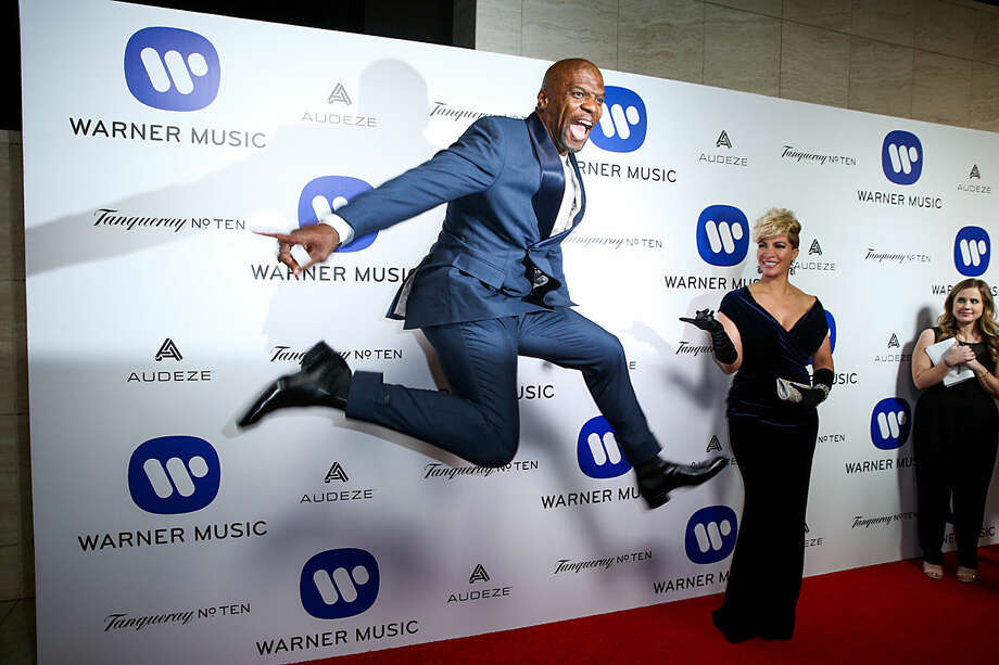 Terry Crews arrives at the Warner Music Group Grammy Awards After Party at Milk Studios on Monday, Feb. 15, 2016, in Los Angeles. (Photo by Rich Fury/Invision/AP)