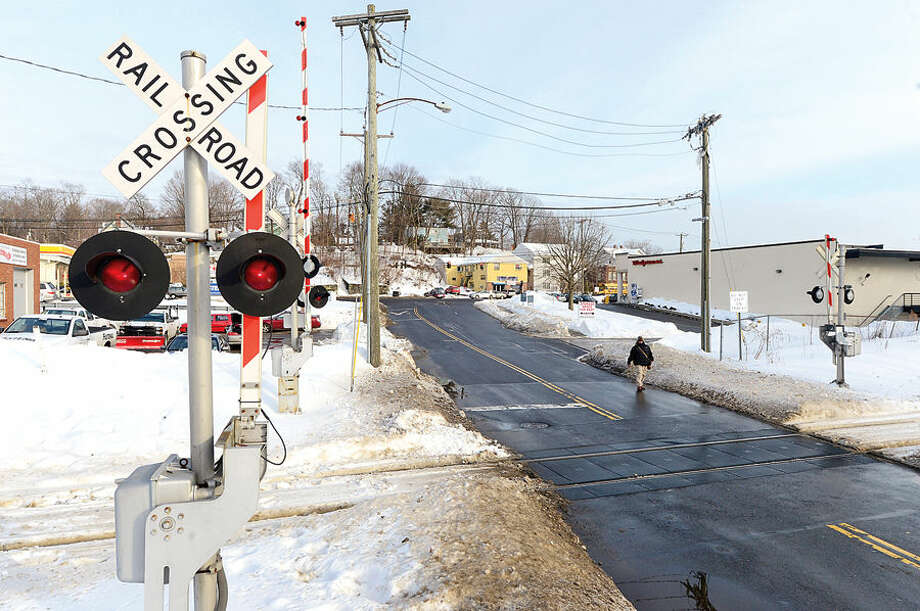 Hour photo / Erik Trautmann Railroad crossing at Broad St on the Danbury Line in Norwalk. Does Metro-North Railroad have safety measures in place along Danbury and New Canaan lines to prevent accidents at crossings like the one that ocurred Tuesday in Valhalla, NY?