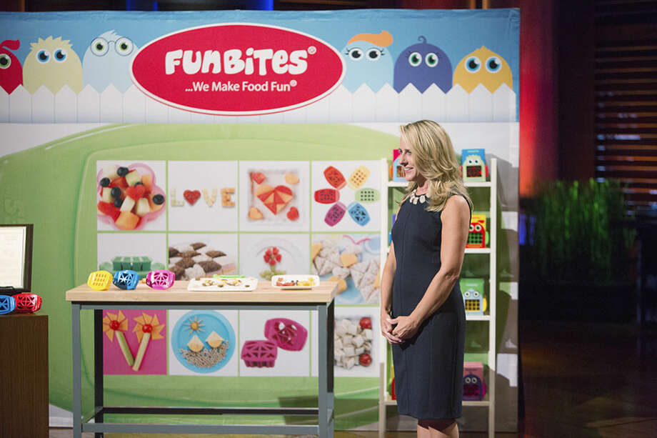 Courtesy of ABC/Michael DesmondWestport mother of two, Bobbie Rhoads, appears on the ABC show Shark Tank to showcase her product to make meal times fun for kids who are picky eaters.