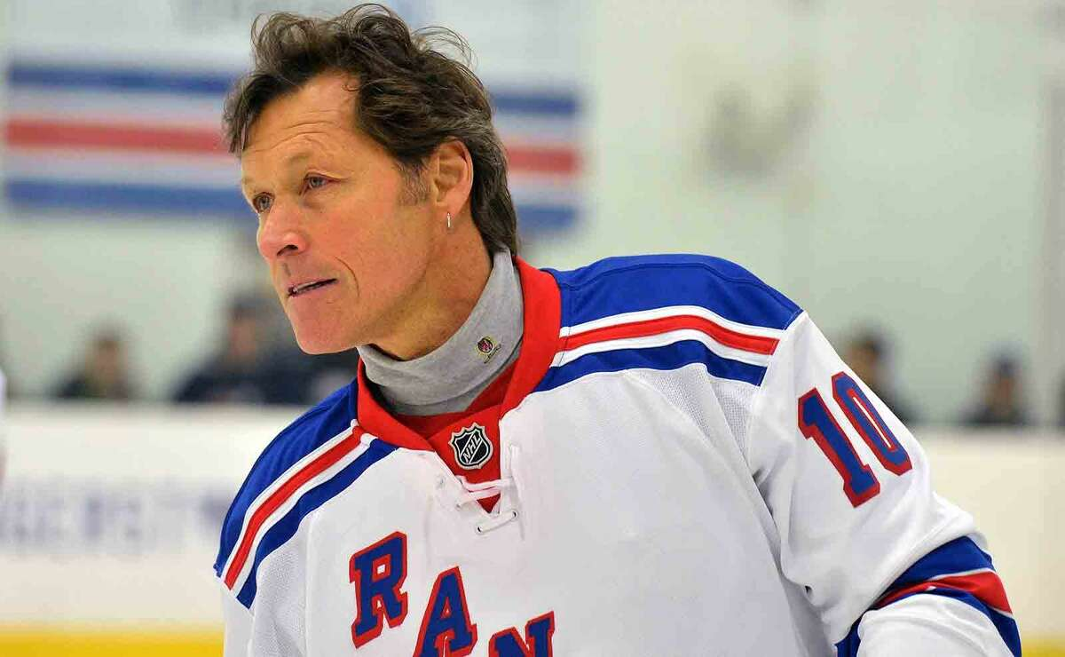 Hour Photo/Alex von Kleydorff Ron Duguay as NY Rangers current players and alumni hold hockey clinics and take to the ice at SONO Ice House with 'NY Rangers Assist' program to benefit Hockey in Norwalk Foundation