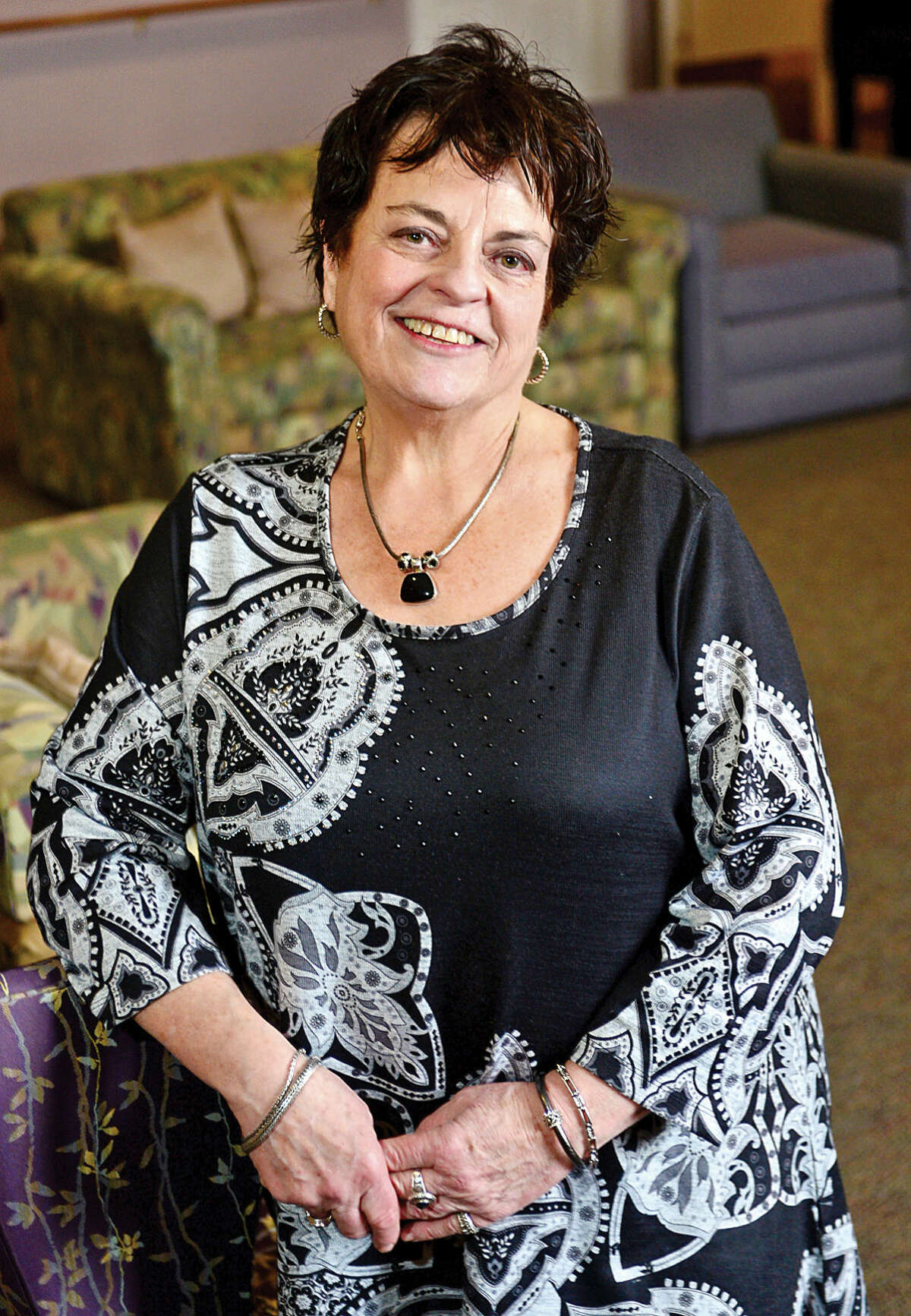 Hour photo / Erik Trautmann Mary Windt celebrates 20 years as the Executive Director of Under One Roof and The Marvin senior housing facility.