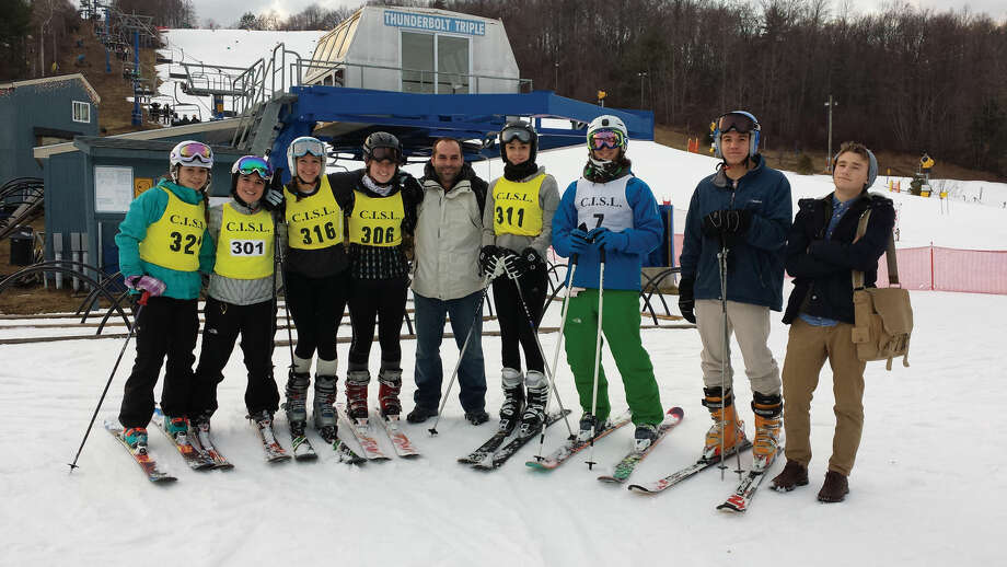 The Westhill High School ski team, pictured here on a recent ski trip, is hoping the school district will provide funding for the team. Currently, members of the team pay for expenses out-of-pocket.
