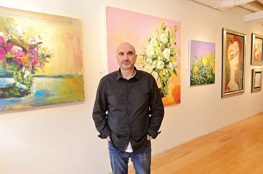 Hour photo / Erik TrautmannClaude Villani, owner of Galerie Sono, has reservations about unsanctioned public displays of artwork like what was seen this week in South Norwalk.