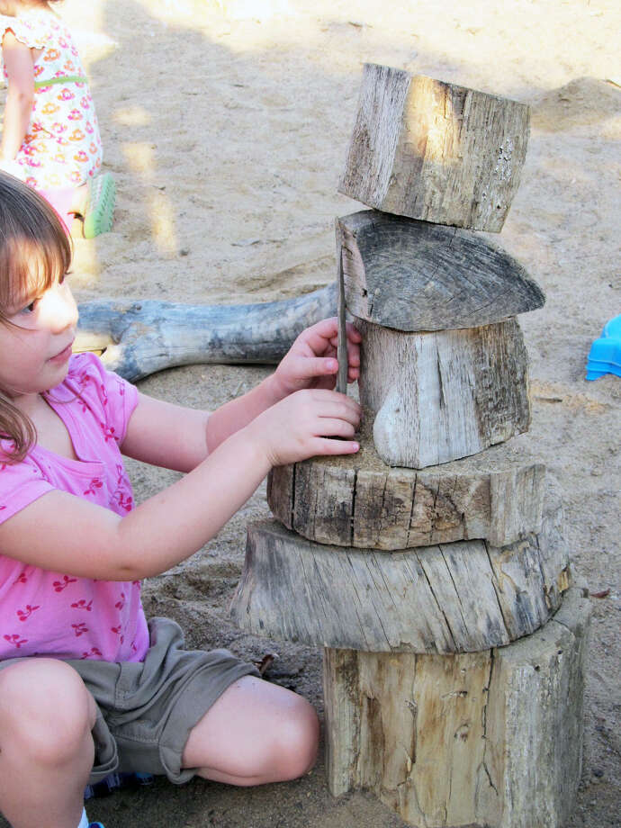 """Greenwich Audubon will open its new """"nature play"""" trail on Saturday, June 18. Above is one of the educational child stations along the trail. Photo: Audubon Greenwich / Contributed Photo"""