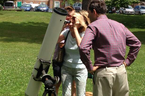 A Summer Solstice celebration takes place on Father's Day, Sunday, June 19, at the Westport Library. Visitors will be able to safely look at the sun through telescopes.