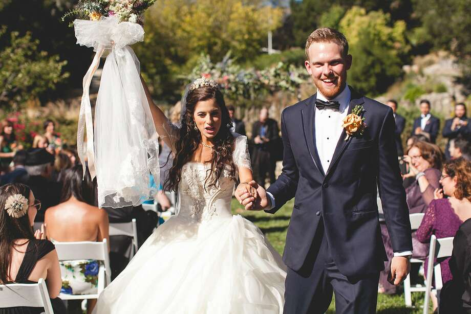 Alia Al-Sharif and Cameron McDonald married Sept. 6, 2015, at Hilltop Ranch, part of Cima Collina Winery in Carmel Valley Photo: Meghan Klein Photography
