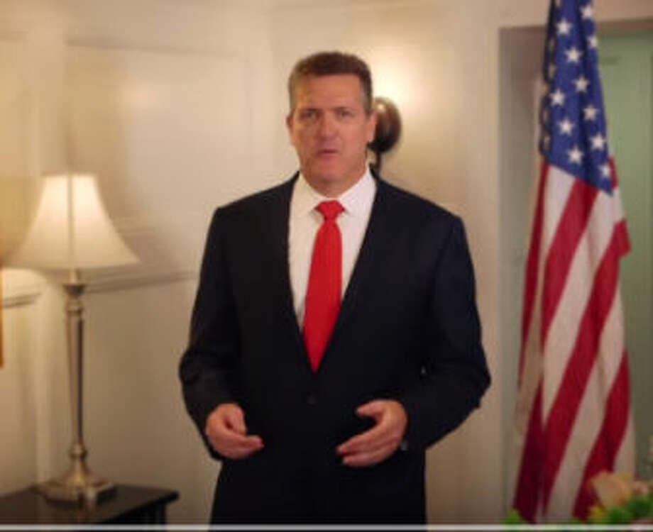 Connecticut MirrorAugust Wolf in the campaign video announcing his candidacy.