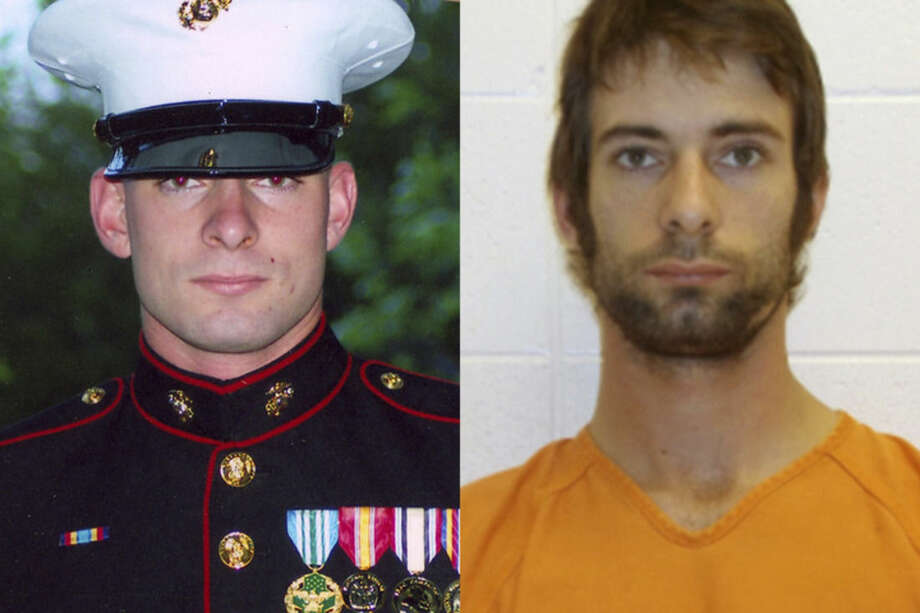 This combination of photos from the Routh family and the Erath County Sheriff's Office shows Eddie Ray Routh. The former Marine is accused of killing Navy SEAL sniper Chris Kyle and Chad Littlefield on Feb. 2, 2013. (AP Photo/Routh Family, Erath County Sheriff's Office)