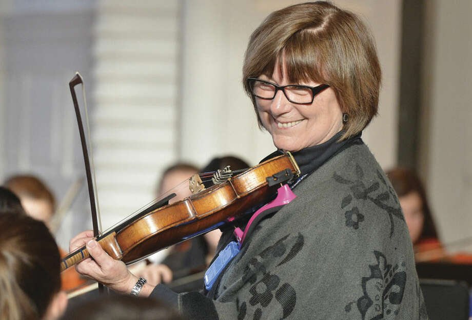 Hour photo/Alex von KleydorffBarbara DiFranco will retire from teaching strings in Norwalk Public Schools.