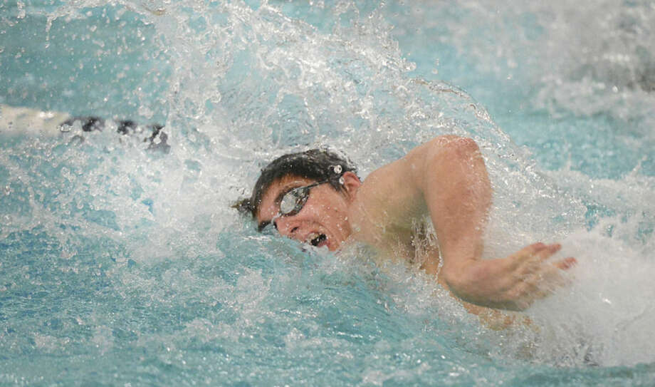 Hour photo/Alex von KleydorffStaples' North Woods won the 200IM in 1:08.26 and nearly missed breaking the school record.