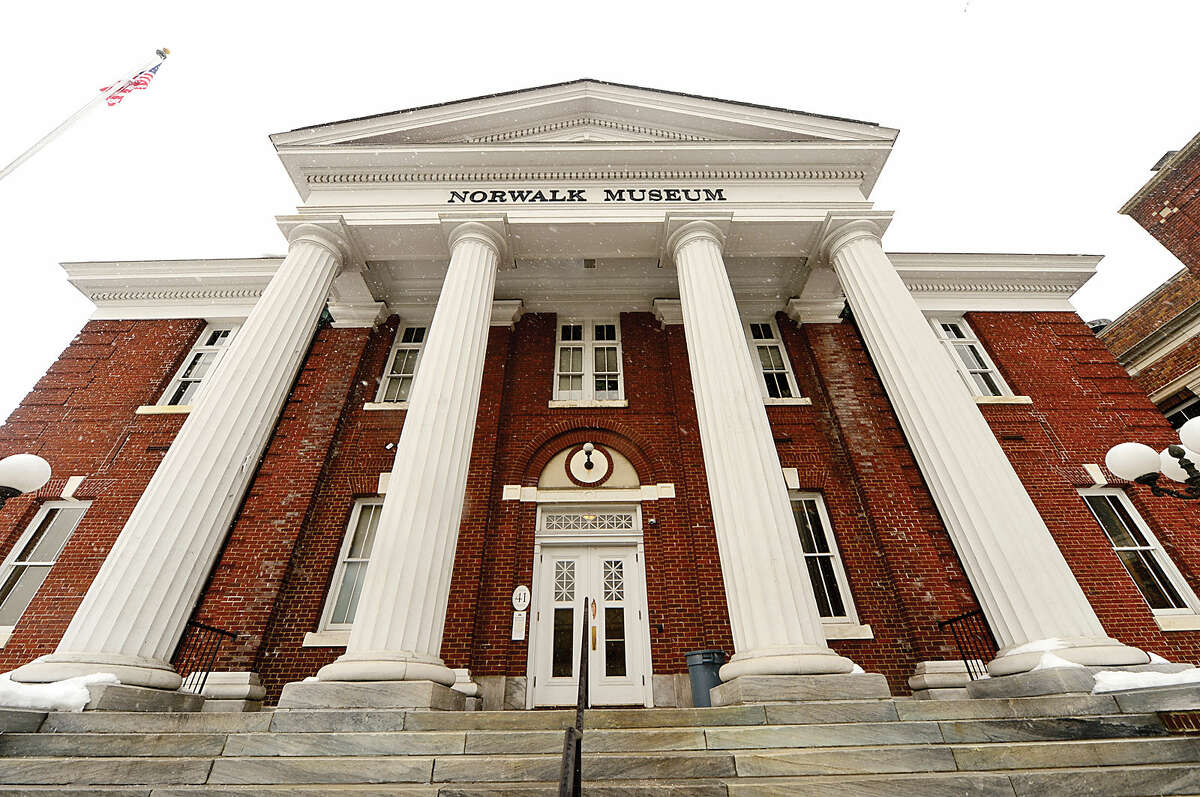 Hour photo / Erik Trautmann The old Norwalk City Hall building which housed the Norwalk Museum is being renovated into office space.