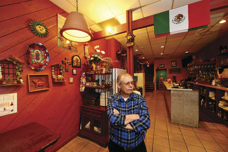 Hour photo / Erik Trautmann Juan Umpierre is selling his restaurant, El Acapulco, after 30 years as a Washington Street fixture in SoNo.