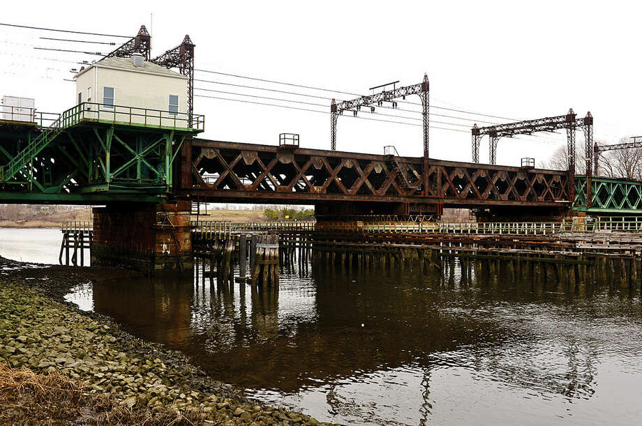 Hour photo / Erik Trautmann Norwalk Mayor Harry W. Rilling and others recently met with the Connecticut Department of Transportation engineers Thursday regarding the deteriorating Walk Bridge with the goal to minimize impact of construction.
