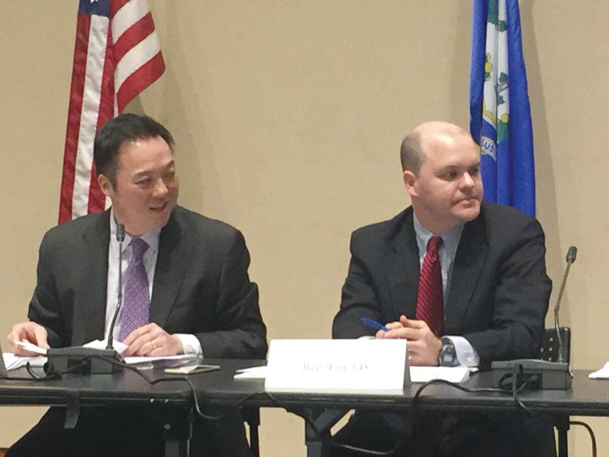 State Reps. William Tong and Dan Fox.