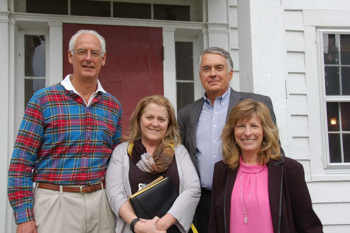 Jim Snedeker, Helen Rendell-Baker, and Michael Lindberg from the Wilton NRVT, and Pat Sesto, Wilton's former director of environmental affairs and current Ridgefield representative to the NRVT.