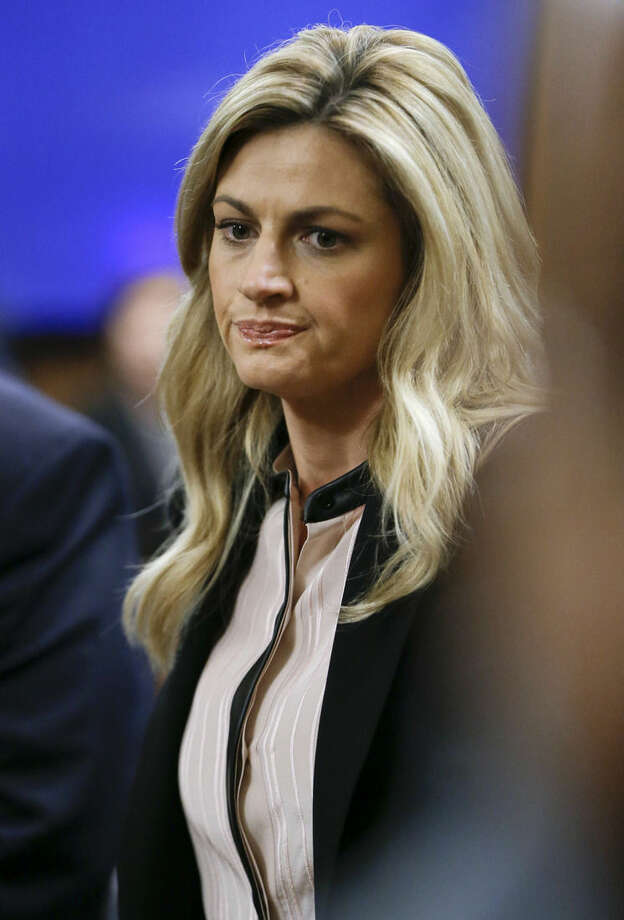 Sportscaster and television host Erin Andrews waits for the jury to enter the courtroom Friday, March 4, 2016, in Nashville, Tenn. Andrews has filed a $75 million lawsuit against the franchise owner and manager of a luxury hotel and a man who admitted to making secret nude recordings of her in 2008. (AP Photo/Mark Humphrey, Pool)
