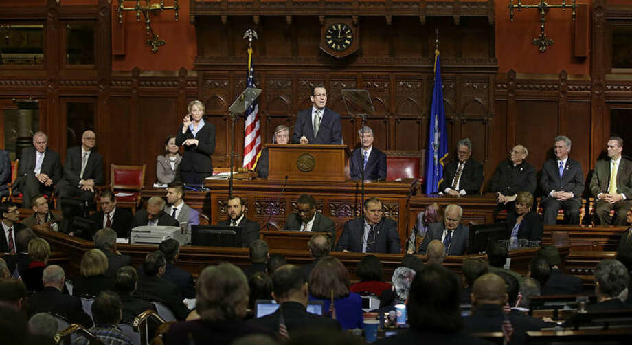 AP photo / Stephan SavoiaConnecticut Gov. Dannel P. Malloy gestures as he emphasizes a point during his 2014 State of the State address in front of a joint session of the legislature in the House Chambers at the Capitol in Hartford, Thursday.