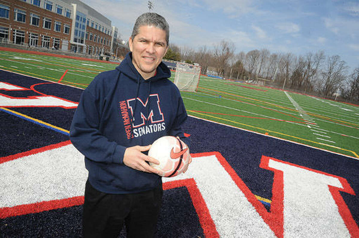 Rodrigo Guzman is the new boys soccer coach at Brien McMahon High School. Hour photo/Matthew Vinci