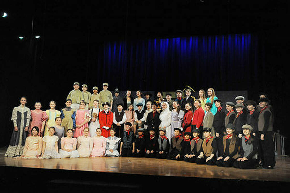 The Children's Theater's dress rehearsal of Mary Poppins at Middlebrook Middle School in Wilton. Photo/Matthew Vinci
