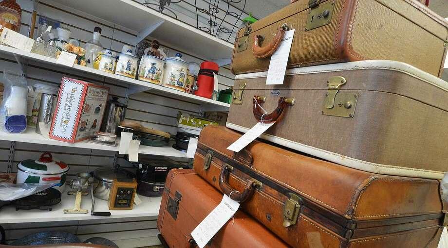 Hour Photo/Alex von Kleydorff Vintage luggage at The Turnover Shop in Wilton Center