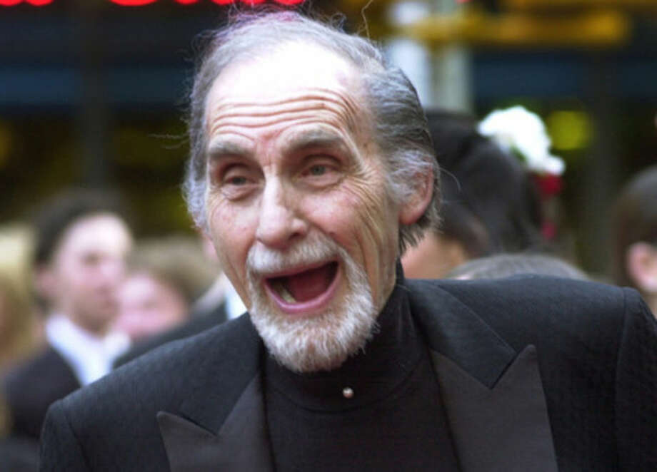 "FILE - In this May 5, 2002 file photo, Sid Caesar, of ""Your Show of Shows,"" arrives at NBC's 75th anniversary celebration in New York. Caesar, whose sketches lit up 1950s television with zany humor, died Wednesday, Feb. 12, 2014. He was 91. (AP Photo/Ron Frehm, File)"