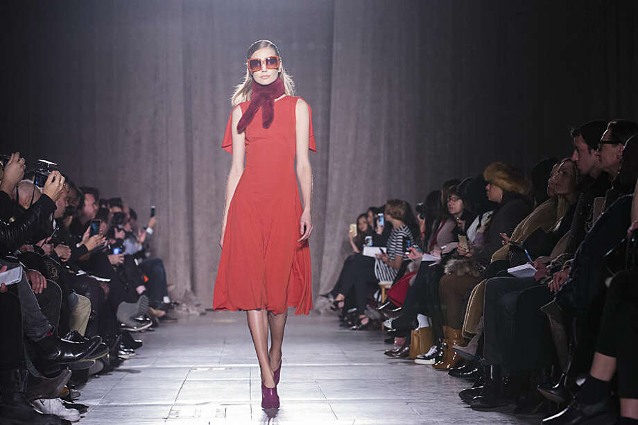 The Zac Posen Fall 2015 collection is modeled during Fashion Week, Monday, Feb. 16, 2015, in New York. (AP Photo/John Minchillo)