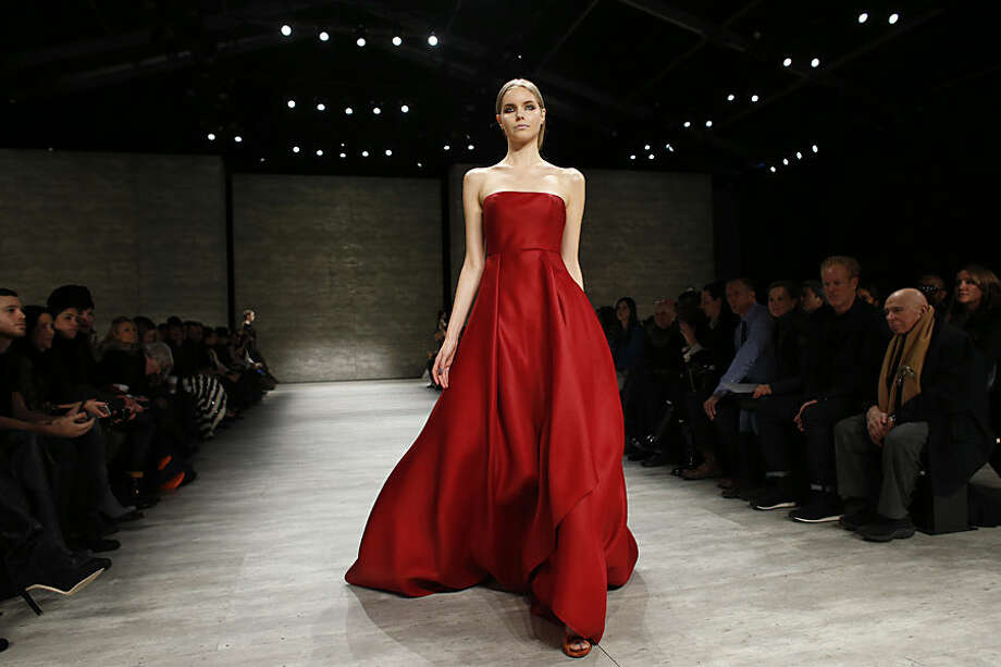 The Angel Sanchez Fall 2015 collection is modeled during Fashion Week, Monday, Feb. 16, 2015, in New York. (AP Photo/Jason DeCrow)
