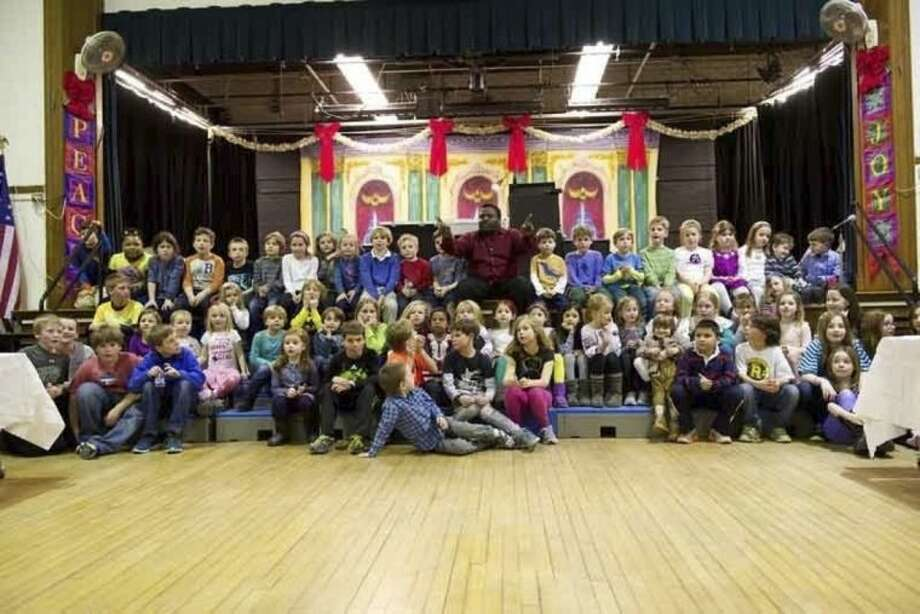 Submitted photosOver 150 kids and adults attended Heritage Night at Rowayton Elementary School on Feb. 6.