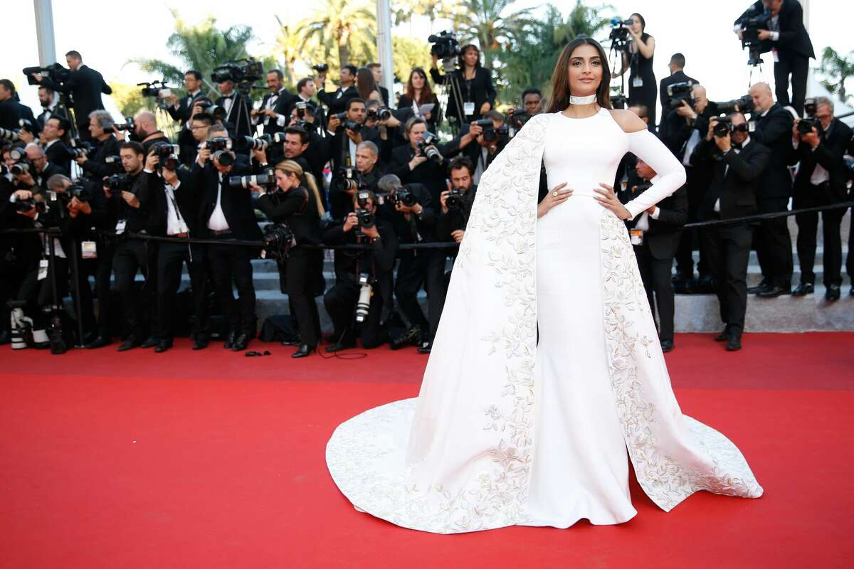 """Sonam Kapoor attends the """"From The Land Of The Moon (Mal De Pierres)"""" premiere during the 69th annual Cannes Film Festival"""