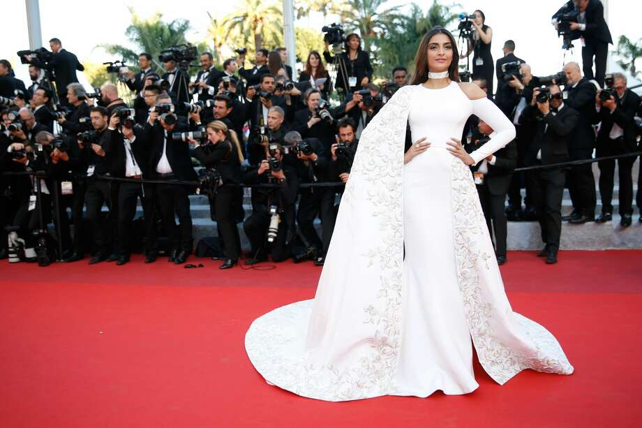 "Sonam Kapoor attends the ""From The Land Of The Moon (Mal De Pierres)"" premiere during the 69th annual Cannes Film Festival Photo: Tristan Fewings/Getty Images"